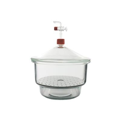 Desecador para vacío, con tapa y llave de vidrio Premium Line