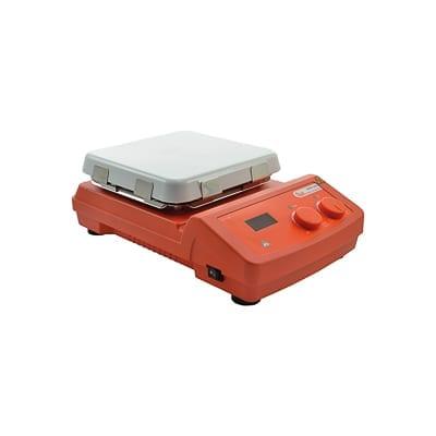 Agitador magnético digital con calefacción y placa vitrocerámica LBX H20SQC, 10 L