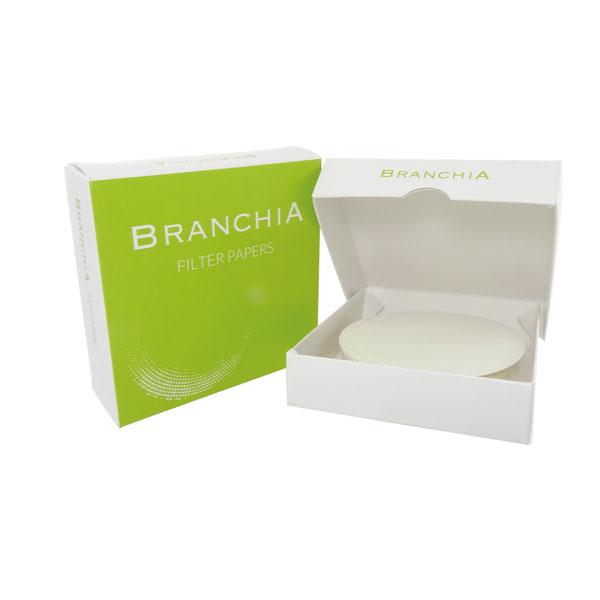 Papel de filtro cualitativo BRANCHIA para uso común, velocidad muy rápida