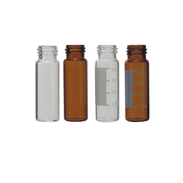 Vial para cromatografía, 15 x 45 mm, 4 ml, boca de rosca