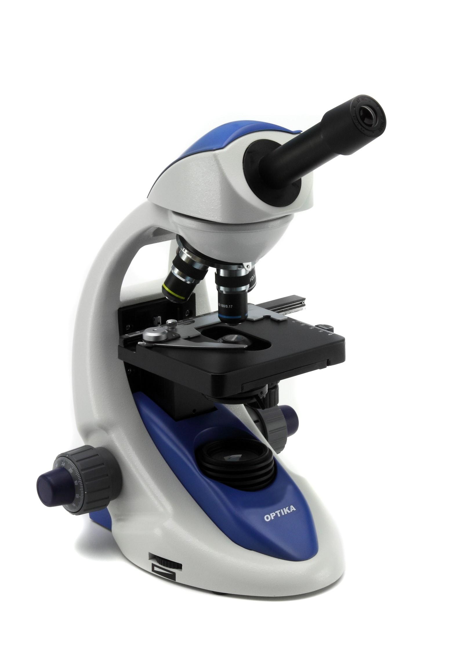 B-191 Microscopio monocular, 1000x, enchufe múltiple